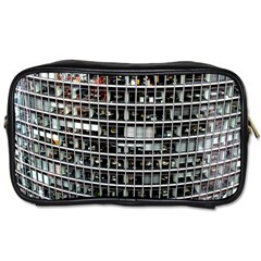 Skyscraper Glass Facade Offices Toiletries Bags 2 Side