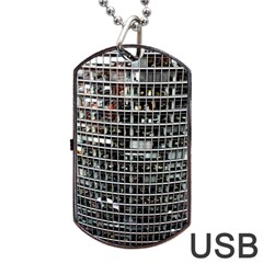 Skyscraper Glass Facade Offices Dog Tag Usb Flash (two Sides)