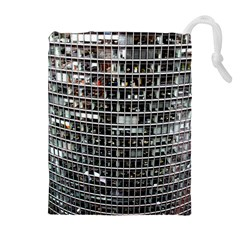Skyscraper Glass Facade Offices Drawstring Pouches (extra Large)