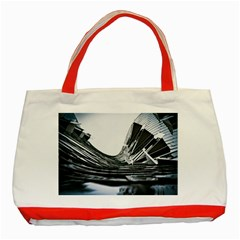 Architecture Modern Skyscraper Classic Tote Bag (red)