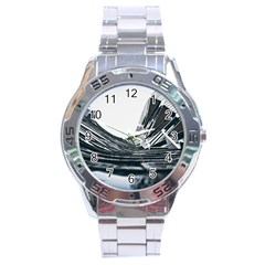 Architecture Modern Skyscraper Stainless Steel Analogue Watch