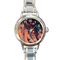 Abstract Wallpaper Images Round Italian Charm Watch