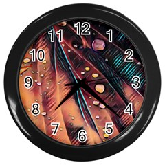 Abstract Wallpaper Images Wall Clocks (black)