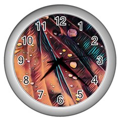 Abstract Wallpaper Images Wall Clocks (silver)