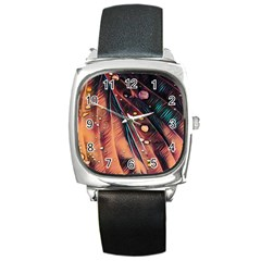 Abstract Wallpaper Images Square Metal Watch