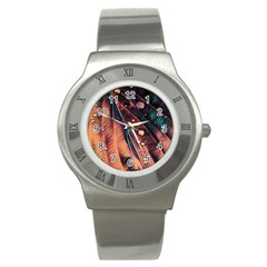 Abstract Wallpaper Images Stainless Steel Watch