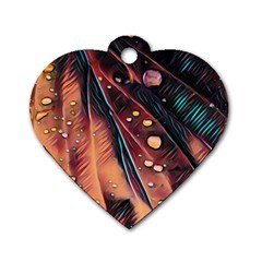 Abstract Wallpaper Images Dog Tag Heart (one Side)