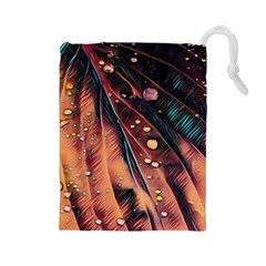 Abstract Wallpaper Images Drawstring Pouches (large)