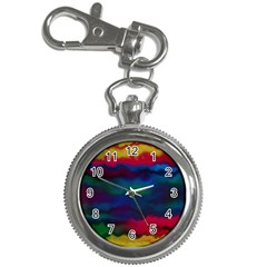 Watercolour Color Background Key Chain Watches