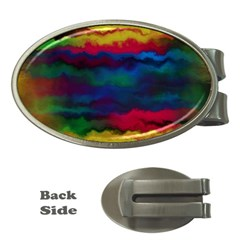 Watercolour Color Background Money Clips (oval)