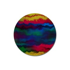 Watercolour Color Background Magnet 3  (round)