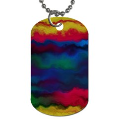 Watercolour Color Background Dog Tag (one Side)