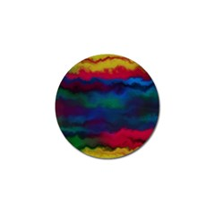 Watercolour Color Background Golf Ball Marker