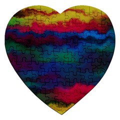 Watercolour Color Background Jigsaw Puzzle (heart)