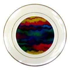 Watercolour Color Background Porcelain Plates