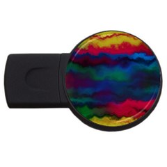 Watercolour Color Background Usb Flash Drive Round (4 Gb)