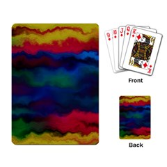 Watercolour Color Background Playing Card