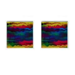 Watercolour Color Background Cufflinks (square)