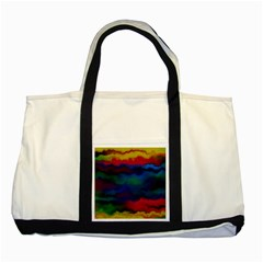Watercolour Color Background Two Tone Tote Bag
