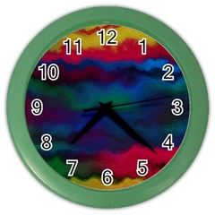 Watercolour Color Background Color Wall Clocks