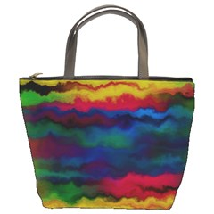 Watercolour Color Background Bucket Bags