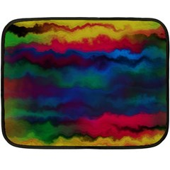 Watercolour Color Background Double Sided Fleece Blanket (mini)