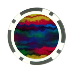 Watercolour Color Background Poker Chip Card Guard (10 Pack)