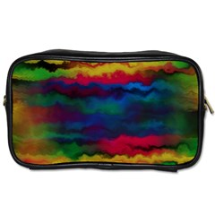 Watercolour Color Background Toiletries Bags 2 Side