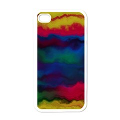 Watercolour Color Background Apple Iphone 4 Case (white)