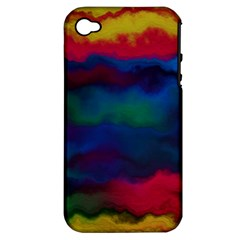 Watercolour Color Background Apple Iphone 4/4s Hardshell Case (pc+silicone)