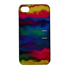 Watercolour Color Background Apple Iphone 4/4s Hardshell Case With Stand