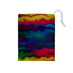 Watercolour Color Background Drawstring Pouches (medium)