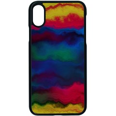Watercolour Color Background Apple Iphone X Seamless Case (black)