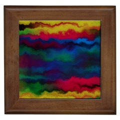 Watercolour Color Background Framed Tiles
