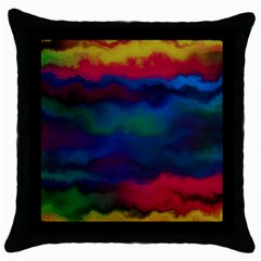 Watercolour Color Background Throw Pillow Case (black)