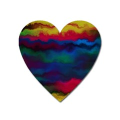 Watercolour Color Background Heart Magnet