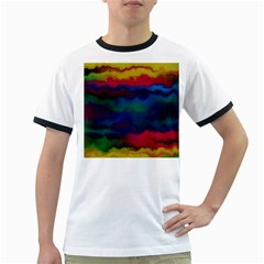 Watercolour Color Background Ringer T Shirts
