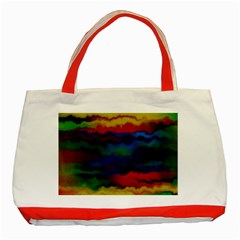 Watercolour Color Background Classic Tote Bag (red)