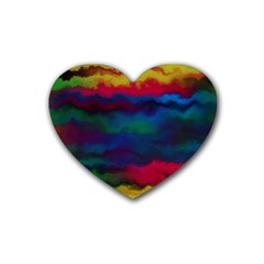 Watercolour Color Background Heart Coaster (4 Pack)