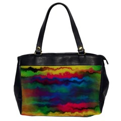 Watercolour Color Background Office Handbags (2 Sides)