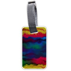 Watercolour Color Background Luggage Tags (two Sides)