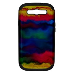 Watercolour Color Background Samsung Galaxy S Iii Hardshell Case (pc+silicone)
