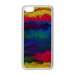 Watercolour Color Background Apple Iphone 5c Seamless Case (white)