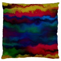 Watercolour Color Background Standard Flano Cushion Case (two Sides)