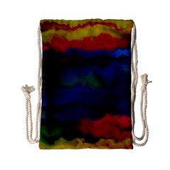 Watercolour Color Background Drawstring Bag (small)