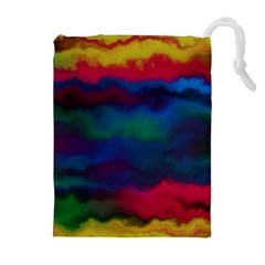 Watercolour Color Background Drawstring Pouches (extra Large)