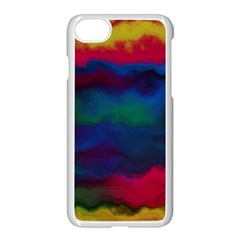 Watercolour Color Background Apple Iphone 7 Seamless Case (white)