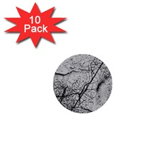 Abstract Background Texture Grey 1  Mini Buttons (10 Pack)