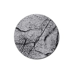 Abstract Background Texture Grey Rubber Coaster (round)