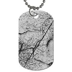 Abstract Background Texture Grey Dog Tag (one Side)